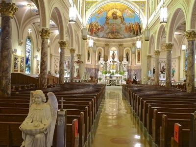 our lady of mount carmel church bronx photo of interior in belmont neighborhood of bronx