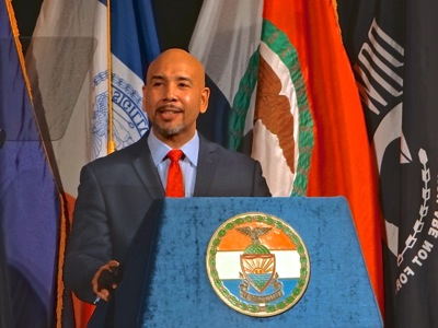 Bronx Borough President Ruben Diaz Delivers Bronx State of the Borough Address  | bronx borough president ruben diaz state of the borough address 2018 at bronx science high school bronx nyc ruben diaz sr was also there