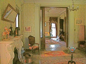 living room of Steinway mansion history