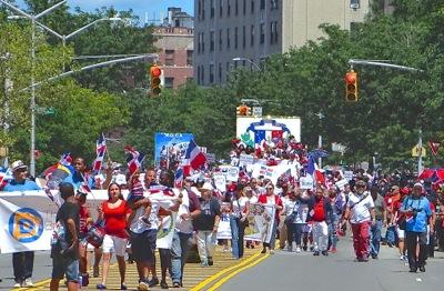 bronx dominican day parade bronx dominicans claremont village neighborhood bronx nyc