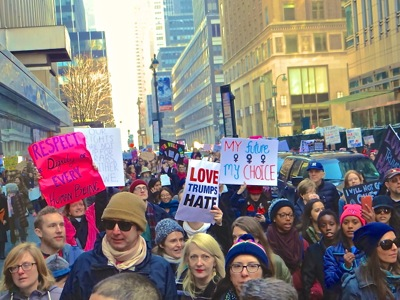de blasio mentions womens march nyc january 2017 photos