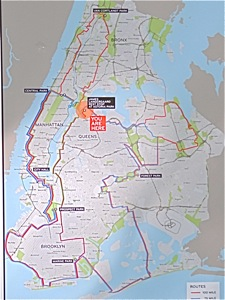 century bike ride map with alternative mileage routes